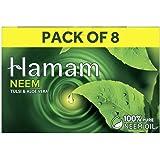 Hamam Neem Tulsi & Aloe Vera Soap, 150 g (Pack of 8) with Pack of 8