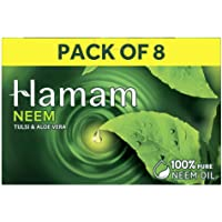 Hamam Neem Tulsi & Aloe Vera Soap, 150 g (Pack of 8)