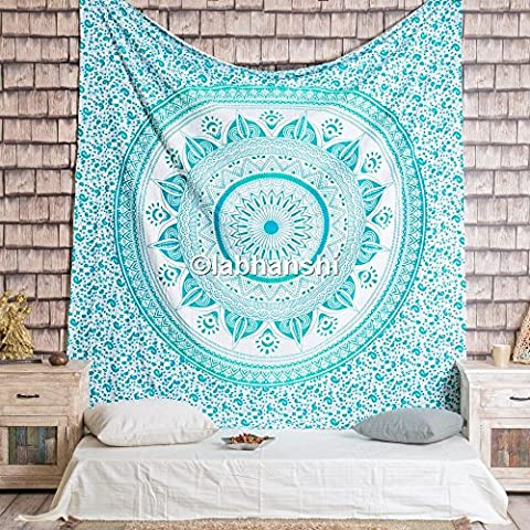 Beautiful Mandala Tapestry, Hippie Ombre Wall Hanging, Bohemian Wall Tapestries,
