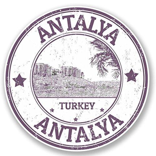 Preisvergleich Produktbild 2x Antalya Türkei Vinyl Aufkleber Aufkleber Laptop Reise Gepäck Auto Ipad Schild Fun # 4724 - 10cm/100mm Wide