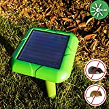 VENSMILE Solar Sonic Mole Deterrent Gopher Repellent Repel Voles Rats Mice and Outdoor Rodent Chaser Spike