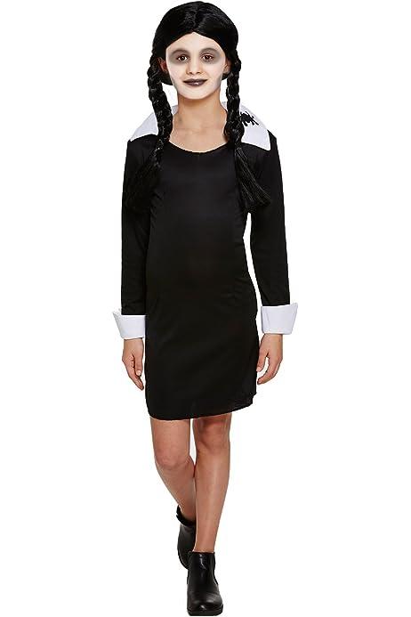SCARY DAUGHTER/WEDNESDAY ADAMS GIRLS COSTUME - SMALL (disfraz): Amazon.es: Juguetes y juegos