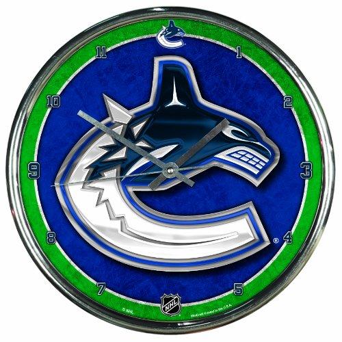 NHL Chrome Uhr Wanduhr Vancouver Canucks