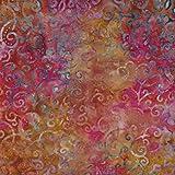 Fabric Freedom Cerise Pink Wellen Design 100% Baumwolle Bali Batik Tie Dye Muster Stoff für Patchwork, Quilten &,–(Preis Pro/Quarter Meter)