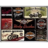 Nostalgic-Art 83037 Harley-Davidson - Bikes, Magnet-Set (9teilig)