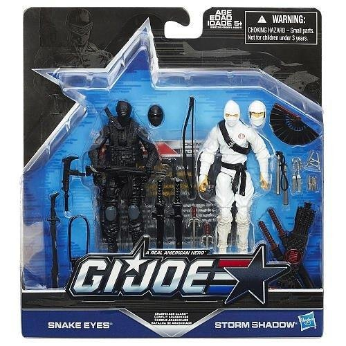 G.I. Joe, 50th Anniversary, Arashikage Clash Action Figure Set (Snake Eyes vs Storm Shadow), 3.75 Inches by G. I. Joe