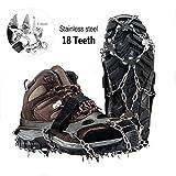 schuhspikes,V.one Traktion Stollen 18 Zähne Anti-Rutsch-Eis Grips Crampon Für Schnee Griffe Und Skischuhe(1 Paar) (Large)