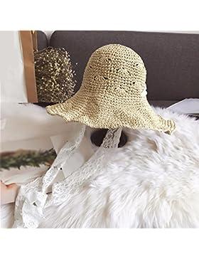 LVLIDAN Sombrero para el sol del verano Dama SolAnti-sol Fishermanstrawhat beige plegable