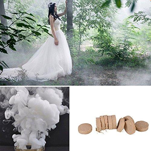 Rauch-maschinen (Giantree Rauch-Effekt für die Fotografie, 10ST tragbare Rauchpillen Kuchen Leistung Rauch Effekt Fotografie Prop)