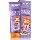 WOW Kids Cool-The-Rays Sunscreen Cream Spf 30 Pa++ - No Parabens, Silicones, Oxide Color, Mineral Oil and Benzophenone, 100 m