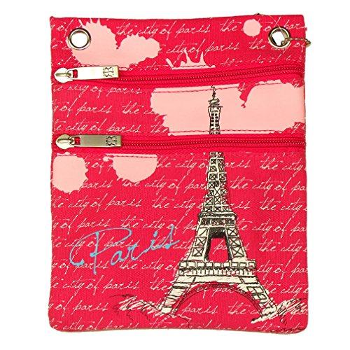 Pochette Passeport Paris Robin Ruth - Rose