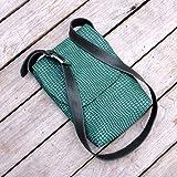 Herrentasche Messenger crossbody Umhängetasche Schultertasche Laptop Tablet Herren Python Kroko grün dunkelgrün Leder, von wagnerstrasse