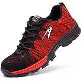 Zapatos de Seguridad para Hombres Zapatos de Acero con Punta de Seguridad,Zapatillas Deportivas Ligeras e Industriales Transp