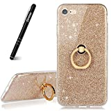 Coque iPhone 8 Porte Bague,Slynmax iPhone 7 Case Paillette Strass Brillante Bling...