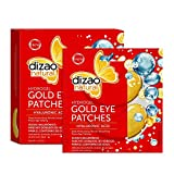 Dizao Natural Gold Eye Patches Hydrogel 100% Hyaluronic Acid 5 Pairs