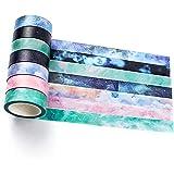 YUBX Washi Tape Set Ruban Adhésif Papier Décoratif Masking Tape pour Scrapbooking Artisanat de Bricolage (Fastary)