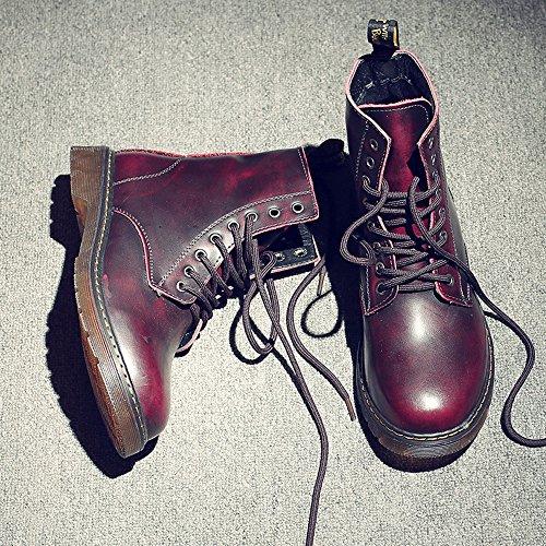 Best Choise Hommes Chaussures Classique En Cuir UP Richelieus HAUT Bottes Pour Messieurs Bottillons d'extérieur ( Color : Red , Size : 38 EU ) Red