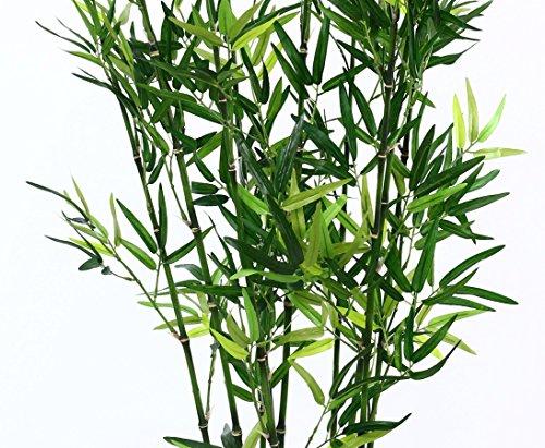 Bambus Kunstbaum in Dekoschale schwarz mit 120cm Höhe – Kunstpflanze