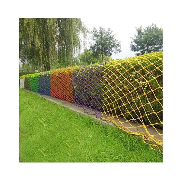 NIUFHW Child Safety Net, Protective Net Climbing Rope Cargo Trailer Decoration Net Children's Toys Pet Safety Stair Railing Net Playground Outdoor Terrace Balcony Can Be Cut 1x2m3m4m  ◆ Safety net wire diameter 6MM, mesh spacing 10CM. Color: color rope net. The protective mesh can be customized to the mesh spacing and color you want. ◆Nylon rope net, hand-made woven net, lightweight child safety fence net, high-grade sturdy woven fabric, professional knotting, multi-strand weaving, make the rope more durable, have strong impact resistance, and protect children's safety. ◆The rope net is suitable for various scenes, door and window corridors, stairs, balconies, railings, kindergartens, amusement parks, public facilities, landscape fences, exterior walls, plant protection nets, etc., which can be used to protect your baby's safety. 1