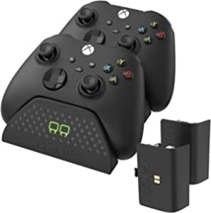 Venom Twin Charging Dock with 2 x Rechargeable Battery Packs - Black (Xbox Series X & S / Xbox One)