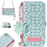 iPhone 8 Hülle,BtDuck Vintage Mode Blumen Blume Kette Tasche Schultertaschen Handtasche Design Brieftasche Damen Schutzh