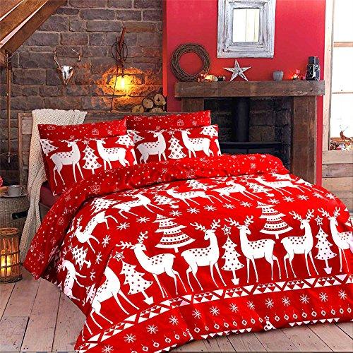 Islander Fashions Christine und Dezember Print Weihnachten Bettdecke Bettbezug Kissenbezug Bettw�sche Set Christine King