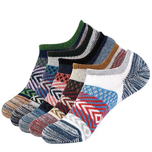 Vbiger 5 Paar Herren Sneaker Socken Invisible Socken Anti-Rutsch Stealth Socken