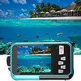 Unterwasserkamera Camcorder Videokamera 24MP Digitalkamera Wasserdichte Kamera Full HD 1080P Selfie Dual-Screen-DV-Aufnahme