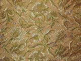 Seide Brokat Stoff Golden Braun & Grün Farbe 111,8cm by