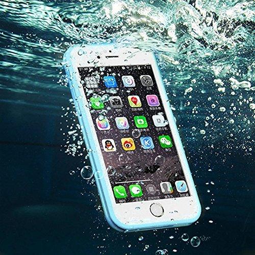 Wasserdicht iPhone 8 Plus / iPhone 7 Plus Hülle, iPhone 8 Plus / iPhone 7 Plus Waterproof Case, MOMDAD TPU Silikon Touchscreen Vollschutz Cover für iPhone 8 Plus / iPhone 7 Plus Full Body Beidseitiger Grün