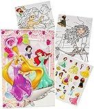 Unbekannt Sticker & Malblock -  Disney Princess - Prinzessin  - Malbuch / Malblock - A..