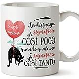 MUGFFINS Tazza San Valentino (Ti amo) - la distanza significa così poco - Idee Regali Anniversario Originali per Lui/per Lei/