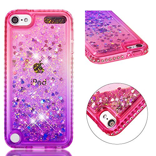 FNBK iPhone Touch 5 Hülle iPhone Touch 6 Gradient Bling Flowing Floating Liquid Case rosa/purpur - Touch-bling