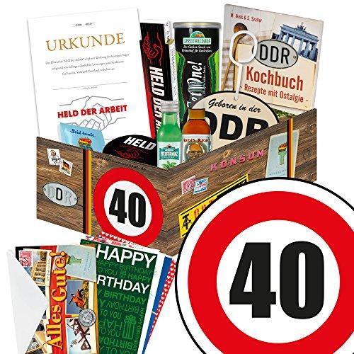 40. Geburtstag Männer Geschenk - Ostprodukte ECHTE MÄNNER Box + Geschenkverpackung