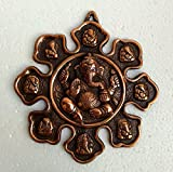 #9: Collectible India Hindu Lord Ganesha Metal Wall Hanging Sculpture Elephant God Ganesh Idol Home Decor | Ganpati Lucky Feng Shui Decorative Wall Mask