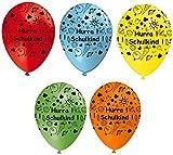 Luftballons Schulkind, bunt gemischt, ca. 30 cm, 5 St.