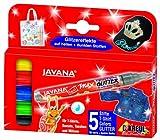 Kreul 92650 - Javana Texi Mäx Glitter, Stoffmalstifte für helle und dunkle...