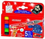 Javana 92650 - Textil Texi Mäx Stoffmalstift Glitter 5er Set