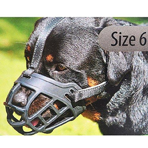 Zantec Bozal de silicona para masticar y hacer bicicleta, permite beber y desteñir jaula creativa para perros pequeños, medianos y grandes, color negro