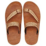#6: UrbanWhiz Stylish Buckle Net Tan Brown Black in Color Corporate Office Casual Slippers Sandals for Men