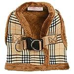 "UrbanPup Luxury Fur Lined Brown Tartan Harness (X-Large - Dog Chest Circumference: 21"" / 53cm) 9"