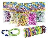 CRAZE 51147 - Juego de 300 Anillos de Silicona de Colores prémium para Pulsera, Bandas de Silicona, Goma Mega US-Trend 51147