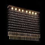 CWJ Deckenleuchter-LED Kristall Licht Rechteck Kristall Kronleuchter Partition Lichter Perlen Lichter,100 * 20 cm * 100 cm