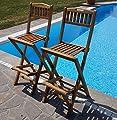 2Stück TEAK Design Barhocker Barsessel Sessel Holzsessel Gartensessel Gartenmöbel Holz geölt Modell: BIMA von AS-S von AS-S - Gartenmöbel von Du und Dein Garten