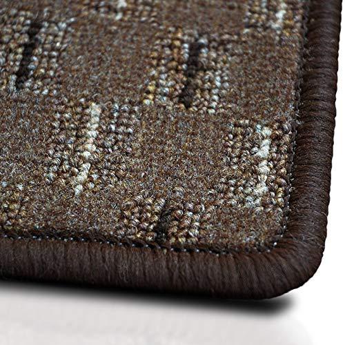casa pura Teppich Glasgow | viele Größen | pflegeleichtes Flachgewebe | Flurteppich, Wohnzimmerteppich, Küchenteppich, Schlafzimmerteppich (Braun - 100x150 cm)