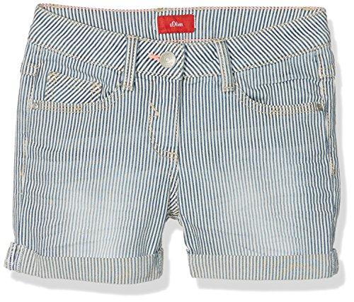 s.Oliver Mädchen Bermuda Short, Blau (Medium Blue Aop 55Z1), 158 (Herstellergröße: 158/SLIM)