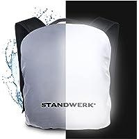 STANDWERK® - Vollreflektierender Regenschutz für Rucksäcke   Rucksacküberzug inkl. Tasche und Befestigung   Regenhülle…
