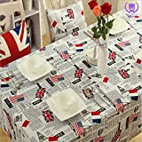 Tischdecken Moderne, Minimalistische, Amazon Schnell Verkaufen, Polyester - Baumwolle, Verkauf von Britischen und Amerikanischen Flagge