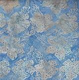 Fabric Freedom Sky Blau Fusion Design 100% Baumwolle Bali Batik Tie Dye Muster Stoff für Patchwork, Quilten &,–(Preis Pro/Quarter Meter)