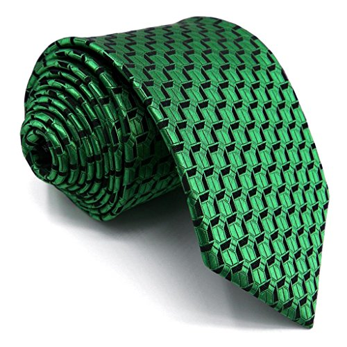 Shlax&Wing Neu Seide Herren Krawatte Einzigartig Grün EinfarbigDünne Extra lang -